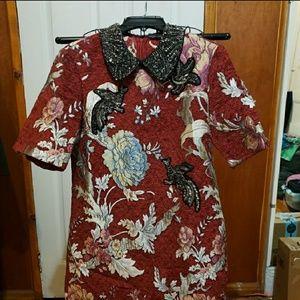 NWOT ZARA Embellished Shift Dress